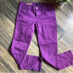 J Crew Toothpick Ankle Skinny Jeans Purple Stretch
